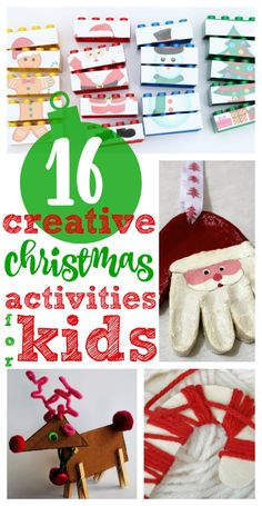 Creative Christmas Crafts and Activities for Kids:  Lots of fun ideas for getting in the Christmas spirit!