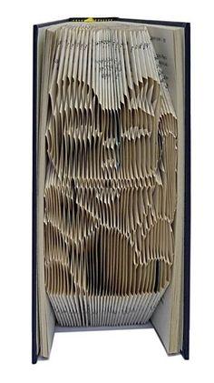 Book folding Pattern: LUCKY CAT design by TheFoldedBookCompany