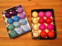 Rit has always dyed golf balls, if they had a surlyn (nylon) cover. However, the finish on golf balls keeps changing and now some have a urethane (polyester) cover. So to be sure Rit will dye them, we recommend using the new Rit ''Dye More'' Synthetic Dye, which dyes polyester and nylon along with other synthetics. Dyed golf balls are fun for gift-giving, for wedding and party favors and for sports and golf events. It takes just a few minutes to do the dyeing and it's so much fun