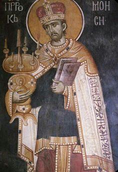 Mosè Religious Images, Religious Icons, Religious Art, Fresco, Byzantine Icons, Byzantine Art, Moise, Russian Icons, Religious Paintings