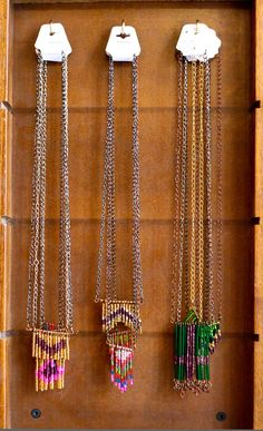 Do it yourself necklace display from a towel rack diy pinterest necklace display at founderie aztec tribal solutioingenieria Images