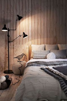 Scandinavian Bedroom Design Scandinavian style is one of the most popular styles of interior design. Although it will work in any room, especially well . Cozy Bedroom, Dream Bedroom, Master Bedroom, Bedroom Decor, Bedroom Ideas, Bedroom Inspiration, Bedroom Designs, Wooden Bedroom, Bedroom Bed