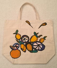 The Citrus Tote by TheArtsyNina on Etsy