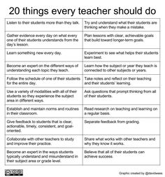 20 things every teacher should do