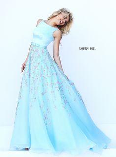 Blue/ Multicolored Sherri Hill Prom Dress