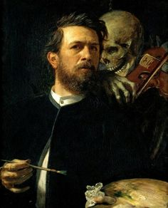 Arnold Böcklin - Self-Portrait With Death Playing The Fiddle (1872)
