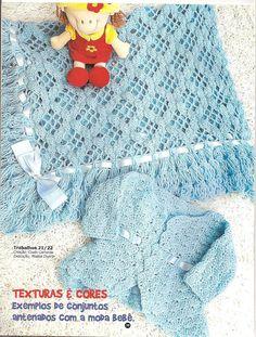 Crochê Tricô - Gráficos: Manta para Bebê