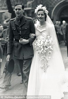The marriage of Deborah Mitford and Lord Andrew Cavendish took place in 1941. The Dowager Duchess of Devonshire died today, 24 September 2014.