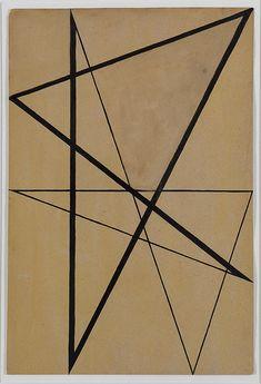 Ohne Titel (Konstruktion mit 8 Zacken), Hermann Glöckner um 1930