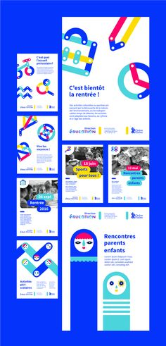Visual identity of the Direction of Education of Chalon-sur-Saône - Identity design - Identity Design, Brochure Design, Visual Identity, Brand Identity, Kids Graphic Design, Web Design, Graphic Design Inspiration, Brand Design, Blog Inspiration