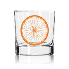 Bike Wheel Rocks Glass