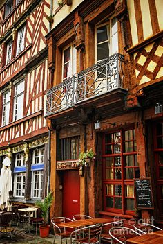 Street In Rennes Photograph..France