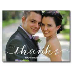 Elegant Photo Thank You Post Cards
