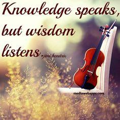 Knowledge speaks but wisdom listens   Jimi Hendrix quote