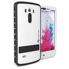 LG G3 Waterproof Case, Ghostek Atomic White W/ Attached Screen Protector LG G3 Slim Fitted LG G3 D850 D851 D855 VS985 LS990 GHOCAS243