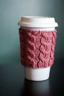 Items similar to Cable Knit Coffee Cozy - Pretty Pink on Etsy Coffee Cup Cozy, Mug Cozy, Coffee Time, Coffee Mugs, Knitting Projects, Craft Projects, Craft Ideas, Sewing Projects, Crafts To Make