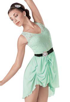Weissman™   Crochet Lace Gathered Skirt Dress