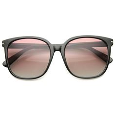 Retro Indie Oversize Horned Rim Square Sunglasses - zeroUV