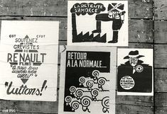 may 1968 posters on fence