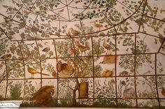 Stanza degli Uccelli, Villa Medici, Rome. Painted by Jacopo Zucchi, 1576-77. (via Le Divan Fumoir Bohémien:  http://florizel.canalblog.com/archives/2013/05/06/27084604.html )