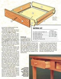 #2599 Shaker Hall Table Plans - Furniture T
