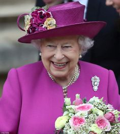 With Prince Philip thought to be nursing a sore hip at home, the Queen attended on her own but clearly enjoyed spending time with her family
