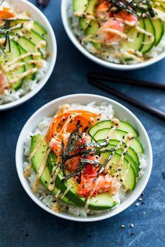 California Sushi Bowls with Japanese Togarashi Mayo | Get Inspired Everyday!