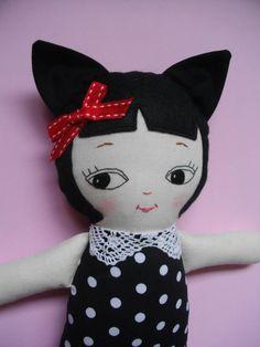 KAWAII CATGIRL Cat plush toy cloth doll by PalookaHandmade