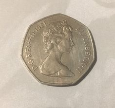Fifty pence Old style 1981 UK by on Etsy