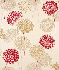 beige & red wallpaper
