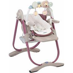 Chicco Chaise haute bébé polly magic rosé texture tissé 160€