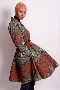 The Gugu Wrap Coat Dress by Demestiks NewYork