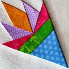 Spring Fling by Carol Doak: Love her paper piecing. Free Pattern