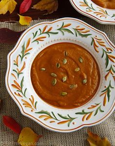 Ethiopian-Spiced Pumpkin Soup ~ Sultry, spicy, and a little sweet, this is…
