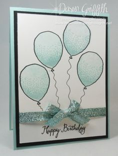 Hi Stampers, Happy Monday friends !  Today's card is super cute and really simple to make. I used the brand new Balloon Celebration stamp set # 140675 from the Occasions catalog . I knew I wanted to u