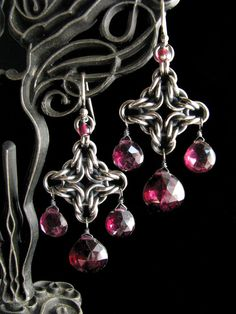 Byzantine Diamond Chainmaille Earrings