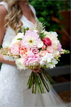 Love this bouquet! pink peach and white bouquet Beautiful Flower Arrangements, Floral Arrangements, Beautiful Flowers, Floral Wedding, Wedding Colors, Purple Wedding, Our Wedding, Dream Wedding, Bride Bouquets