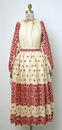 Traditional Croatian dress circa early 1900s ~ I used to own one just like this... traded it for a floral Posavina...
