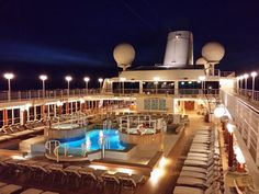 Cruising on the Azamara Journey ship at night. #luxury #travel