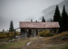 This Mountain Cabin was found miles up a treacherous dirt road in the Colorado Rockies. Kept alive by volunteers, the tiny mining town is open