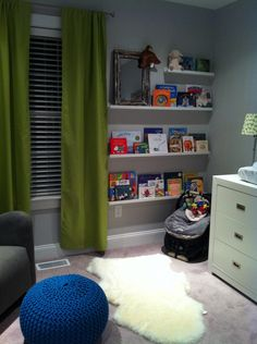 love the little book corner...great message.