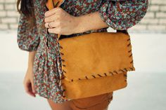 Use suede to make this classic purse.
