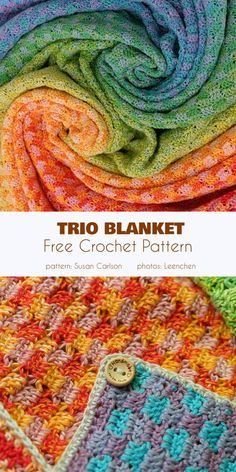 Trio blanket is made of three cakes of Scheepjes Whirl, each of a different color. The finished blanket is made in 2 sizes: x or x , but you can Beginners Knitting Kit, Easy Knitting Projects, Knitting Kits, Crochet Projects, Knitting Ideas, Crochet Ideas, Afghan Crochet Patterns, Knitting Patterns, Crochet Afghans