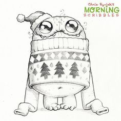 "2,309 Gostos, 32 Comentários - Chris Ryniak (@chrisryniak) no Instagram: ""Ugly Christmas sweater time! ❄️ #morningscribbles #christmas2015"""