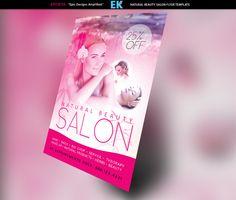 Natural Beauty Salon Flyer Template