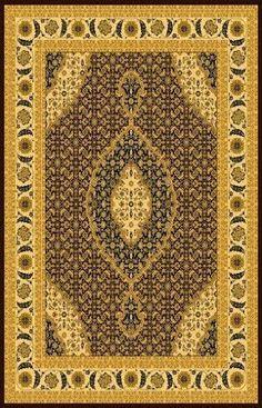 Design T02 Brown 100% Polypropylene Durable Power Loomed Persian Rug