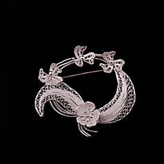 TELKARİ İŞÇİLİKLİ EL YAPIMI YÖRESEL BROŞ 42 Silver Filigree, Alex And Ani Charms, Elsa, Charmed, Jewellery, Bracelets, Silver, Quilling, Quilling Jewelry