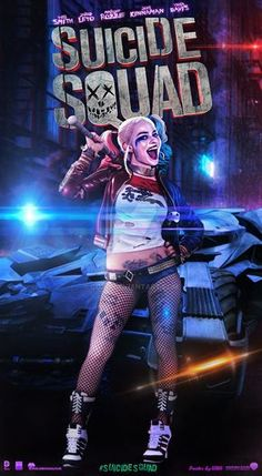 Suicide Squad Harley Quinn Poster By GOXIII DC Comics Phone Wallpaper Background For IPhone IPad And Android Lock Screen