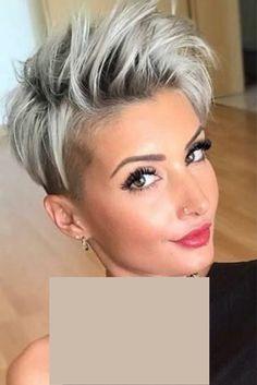 Short Copper Hair, Short White Hair, Edgy Short Hair, Short Hair Cuts For Women, Short Hair Styles, Long Hair, Pixie Cut Thin Hair, Short Blonde Pixie, Pixie Haircut For Thick Hair