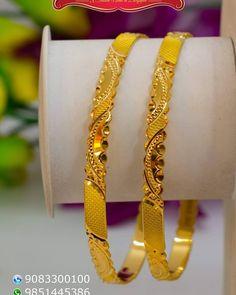Plain Gold Bangles, Ruby Bangles, Gold Bangles Design, Gold Jewellery Design, Gold Bangle Bracelet, Bangle Set, Silver Bracelets, Pearl Necklace Designs, Gold Earrings Designs
